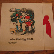 Vintage Rag Doll Buzza Christmas Card