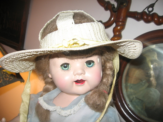 Handmade Unusual Vintage Crocheted Hat for Saucy Walker Type Doll
