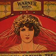 Warner Brothers Advertising Movie Ink Blotter with Bride