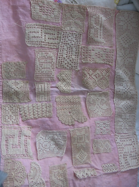 Vintage Handmade Lace Test Piece Sampler