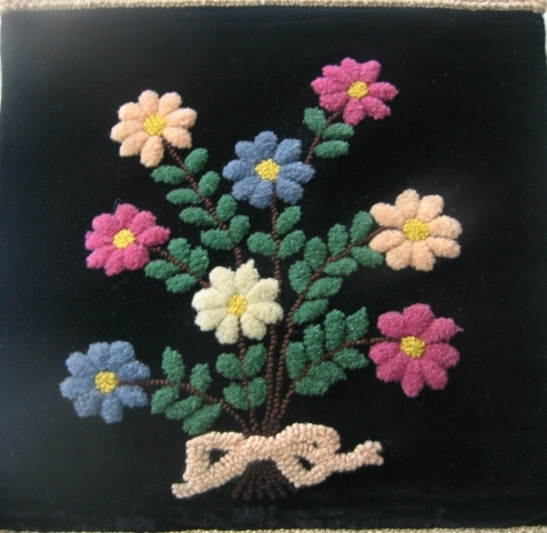 Beautiful Mennonite Made Stumpwork Wall Hanging