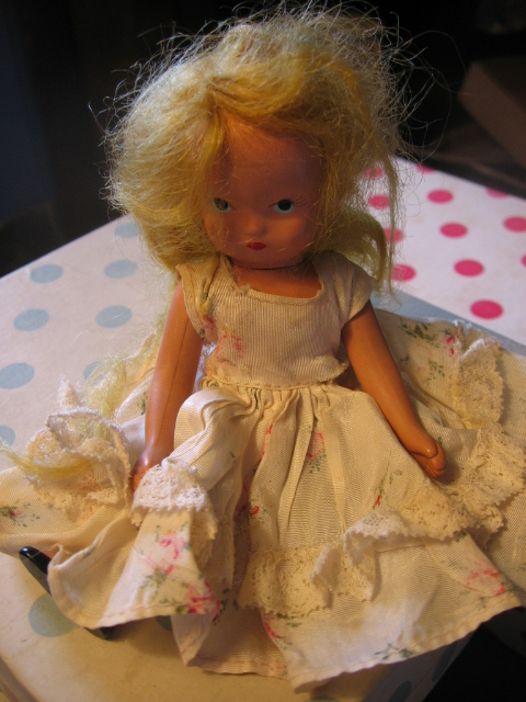 1930s Bisque Storybook Doll with Jointed Head