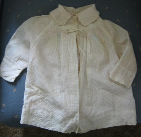 Vintage Dotted Swiss Baby Coat