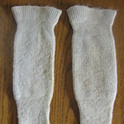 Unusual Victorian Wool Baby Spat Leggings Knit Stockings