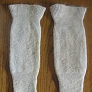 Unusual Victorian Wool Baby Spat Leggings Knit Stockings