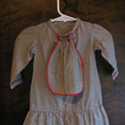 Early Primitive Checked Baby or Doll Dress