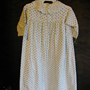 Antique Calico Baby Gown with Lace Accents for Baby Doll