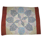 Reversible Quilt Type Doll Bed Spread or Table Mat