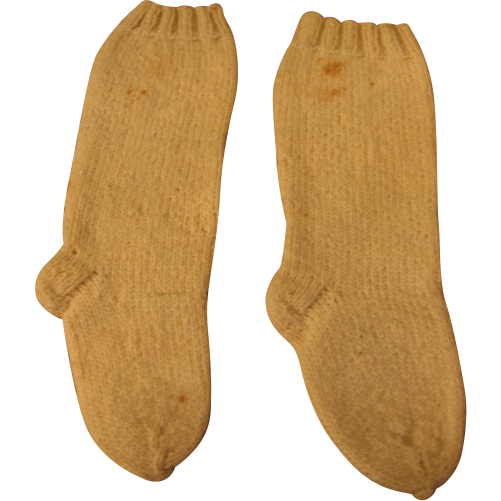 Antique Hand Knit Wool Stockings for Doll or Baby Socks