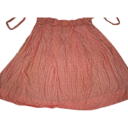 Red Calico Apron for Antique Doll Clothing Dress Quilt