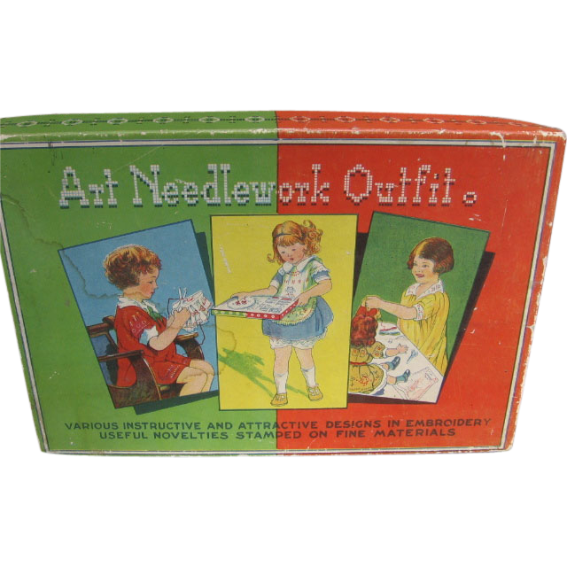 Vintage Childs Art Needlework Outfit in Original Box
