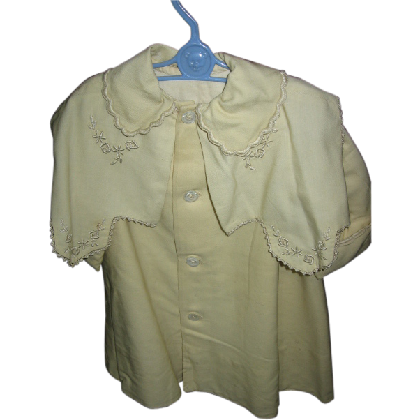 Antique Victorian Toddlers Wool Coat with Stunning Capelet
