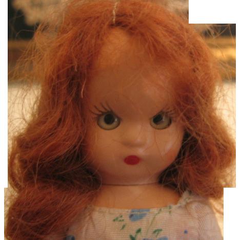 1949 1950 Storybook Doll Hard Plastic with Sleep Eyes