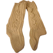 Hand Crocheted Knee High Button Baby Sock Booties
