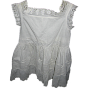 Antique Doll Petticoat or Baby Dress with Eyelet Trim