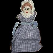 Topsy Turvy Handmade Doll Mid Century