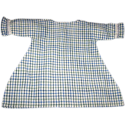 Blue White and Green Checked Doll Dress