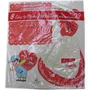 NOS Vintage Valentines in Original Kit To Make