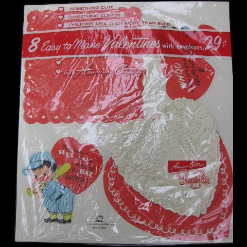 NOS Vintage Valentines in Original Kit To Make