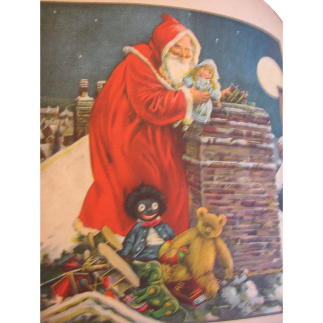 Early 1900s Santa Claus Book Childrens Happy Hour Series