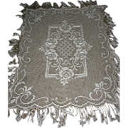 Vintage Fancy String Lace Fringed Table Cover