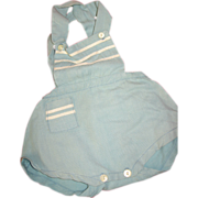 Blue Sunsuit Outfit for Boy Doll or Teddy Bear
