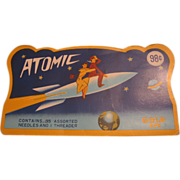 Atomic Spaceship Brand Needle Pack with Zemprelli Ad