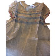 Beautiful Dotted Swiss Smocked Dress