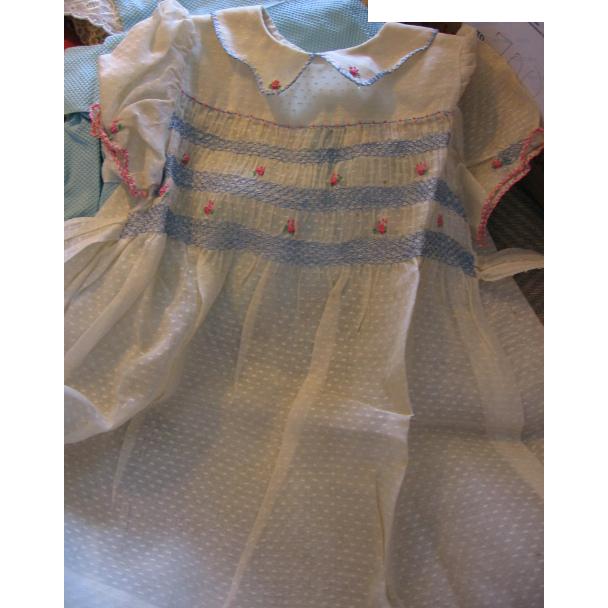 Beautiful Dotted Swiss Smocked Dress
