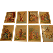 The Lords Prayer Cards Chromolithographed Set