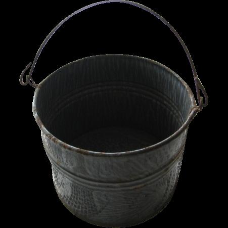 Vintage Enamelware Graniteware Berry Bucket