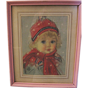 Adorable Maud Tousey Fangel Framed Print