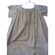 Victorian Era Ladies White on White Night Gown