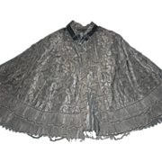 Victorian Black Cape for Re-Enactments