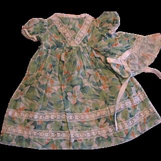 Vintage Doll Dress Bonnet and Undies