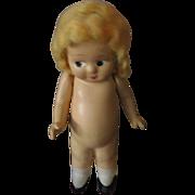 Compositon Bashful Kewpie Doll 1930s 40s Era