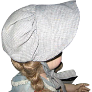 Vintage Mennonite Made Bonnet for Doll or Baby