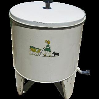 Vintage Metal Toy Washing Machine