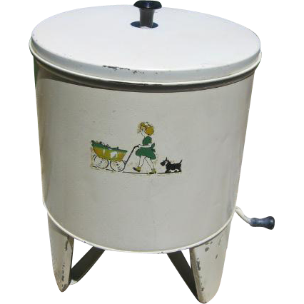 Vintage Metal Toy Washing Machine