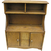 Vintage Toy or Salesmans Sample Stepback Cupboard from Lancaster Co Pa Amish Farm