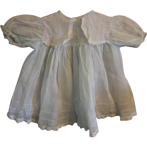 Vintage Organdy Doll Dress for Composition Baby Doll