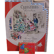 Unique Christmas Greeting Card with Attached 1940 Calendar - Red Tag Sale Item