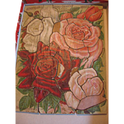 Old Wooden Puzzle Advertising Roses from Henderson's of NY