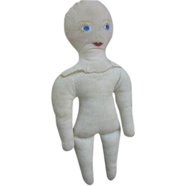 Orphaned Rag Doll with Hand Drawn Face