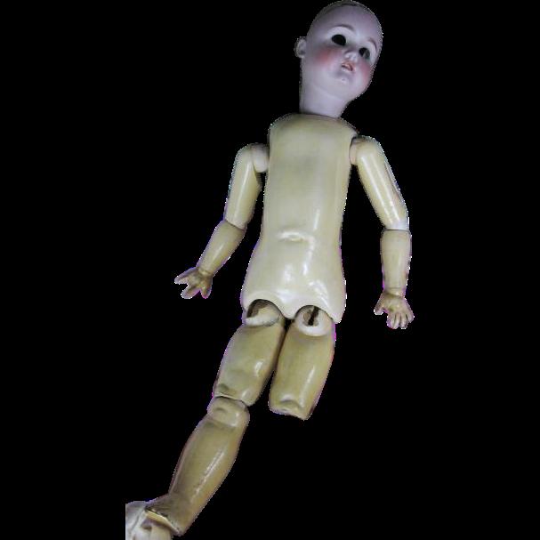 German Bisque Head Doll Needs TLC