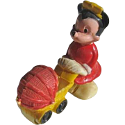 Minnie Mouse Ramp Walker with Doll Carriage by Disney
