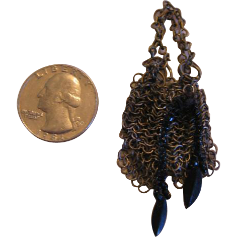 Miniature Metal Chain Link Doll Purse