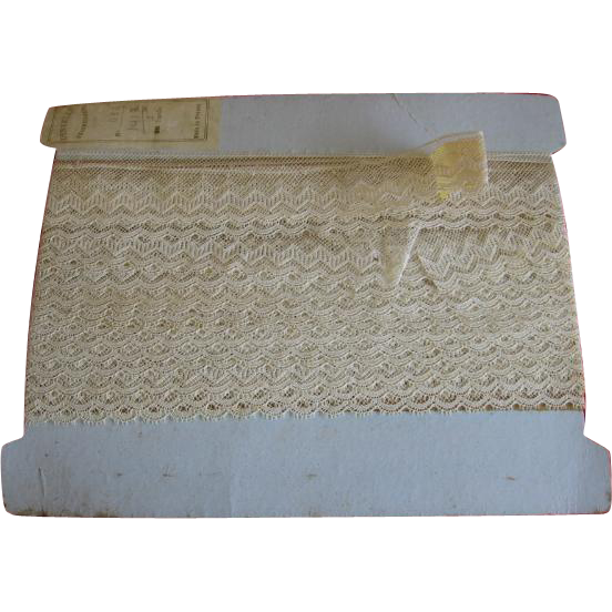 Old French Lace on Original Card 7 Yards!!