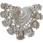 Heart Shaped Crocheted Trim for Doll Dress or Bonnet
