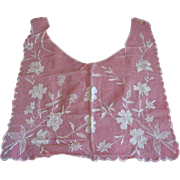 Sheer ECRU not RED!! Lace Net Collar with Floral design Never Used!!